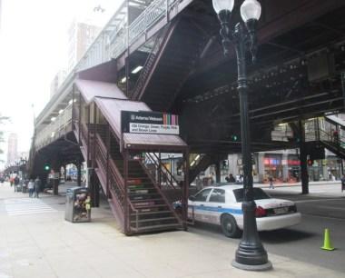 Chicago avec métro aérien