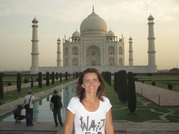 nath devant le Taj Mahal