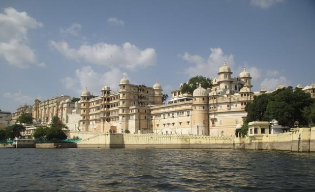 vue sur le City Palace Udaipur