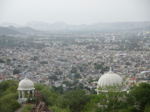 vue sur la ville moderne Udaipur