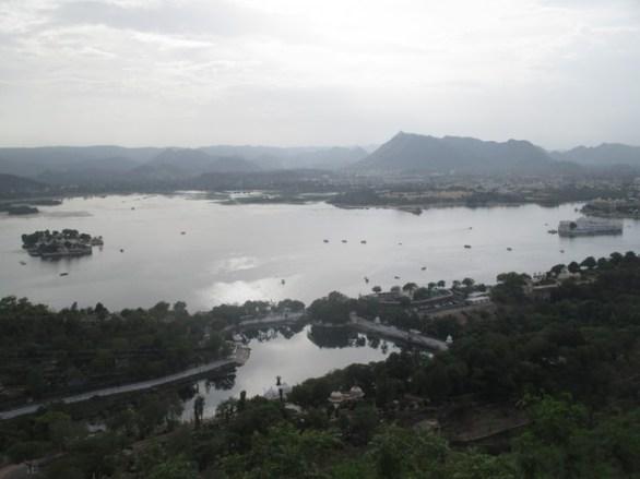 vue sur le lac Pichola Udaipur