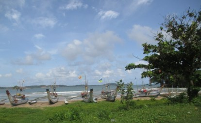 bateaux traditionnels Sri Lanka