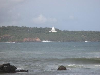 vue depuis Fort de Galle temple bouddhiste