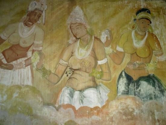 fresques temple de Pidurangala
