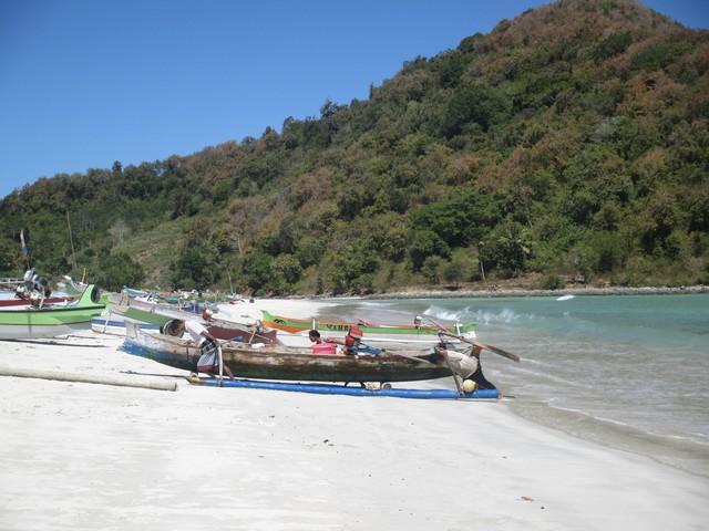 retour bateau plage Selong Blanak