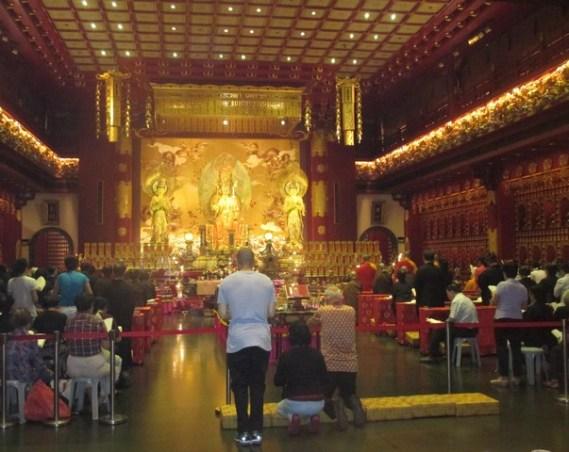 intérieur Temple de la dent Singapour