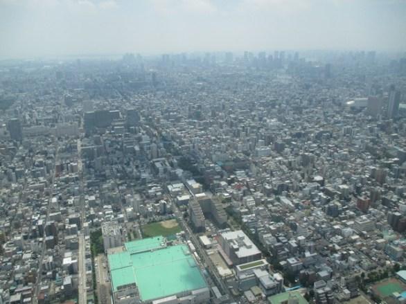 vue Tokyo depuis le sky tree