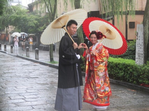 couple en kimono Gion