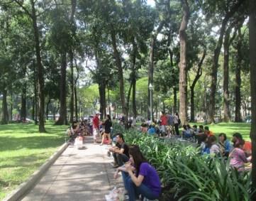 pause parc de Saigon