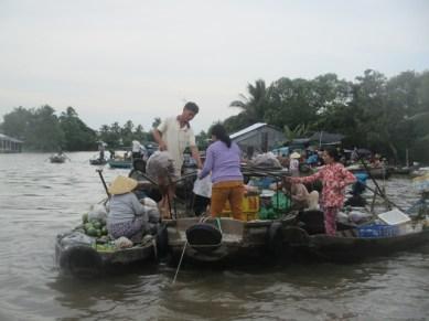 Marché flottant Phong Dien sur le Mékong