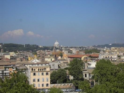 vue de Rome depuis le jardin des oranges