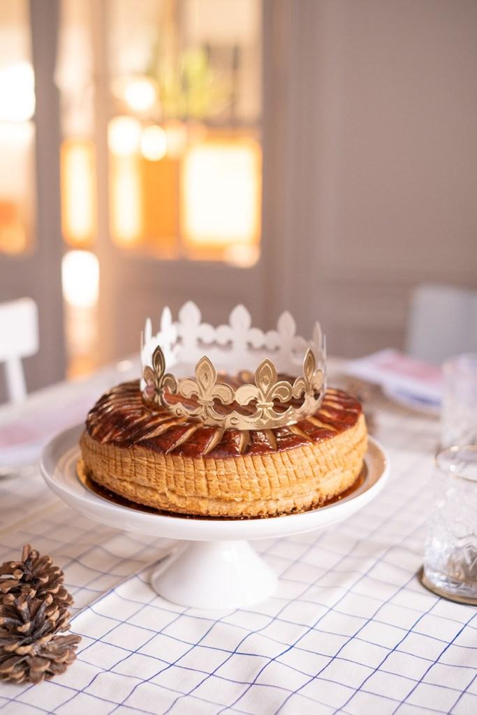 Galette des rois Mariage Frères au thé blanc et rose.