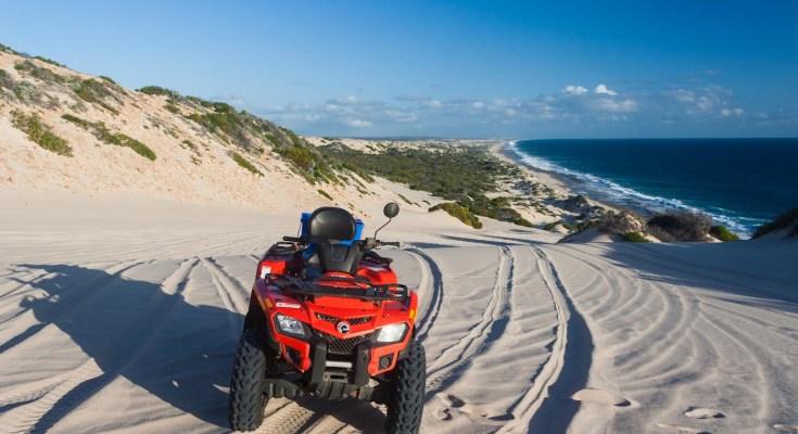 Photo quad sur plage