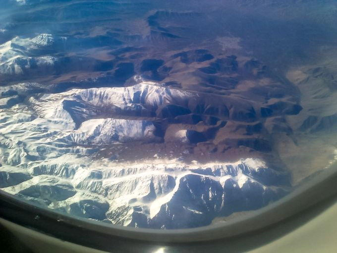 Photo montagnes vue avion