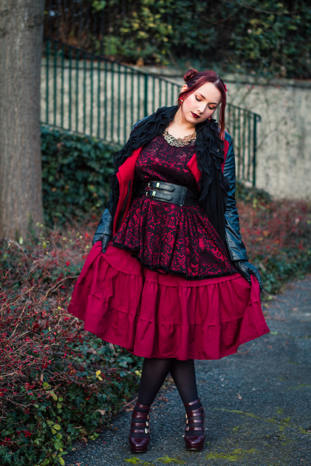 Look Rouge hivernal
