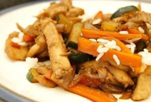 Pollo con verdura