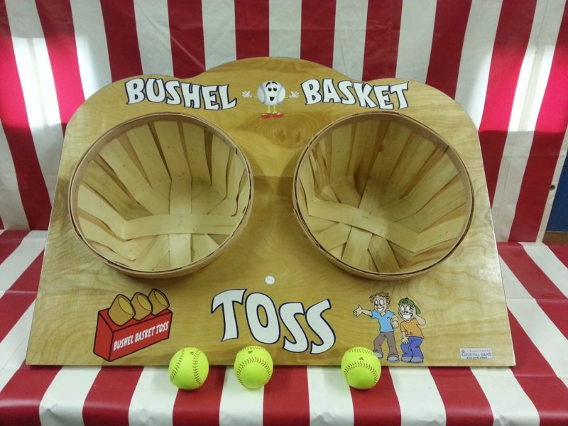 Bushel Basket Toss Carnival Game