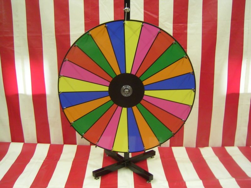 color dry erase carnival game wheel