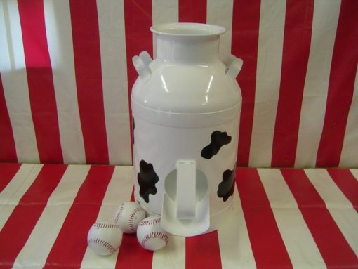 milk can cow painted carnival game