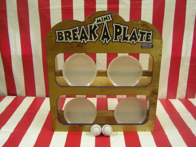 Mini Break a Plate Carnival Game