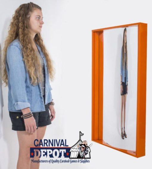 Funhouse Mirror 4' (Orange Frame)
