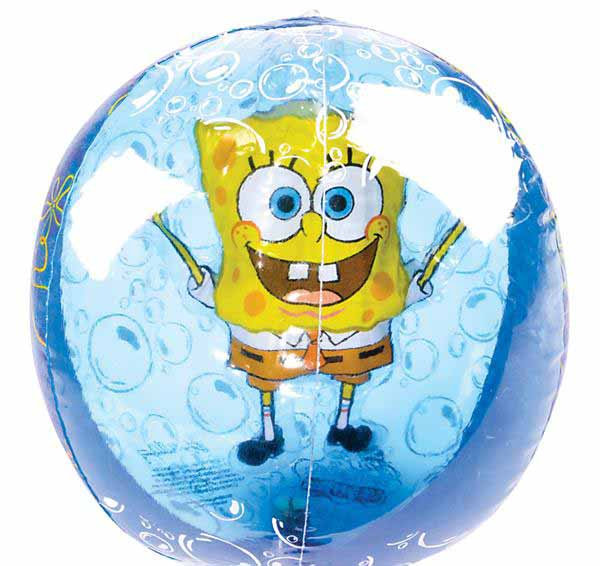 Sponge Bob Beach Ball Inflate