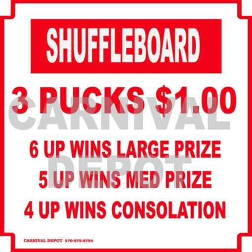 shuffleboard carnival sign