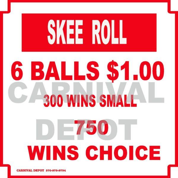 skee roll carnival sign