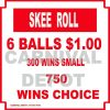 skee roll carnival sign