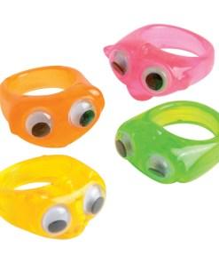 Neon Wiggle Eyes Rings Carnival Prize