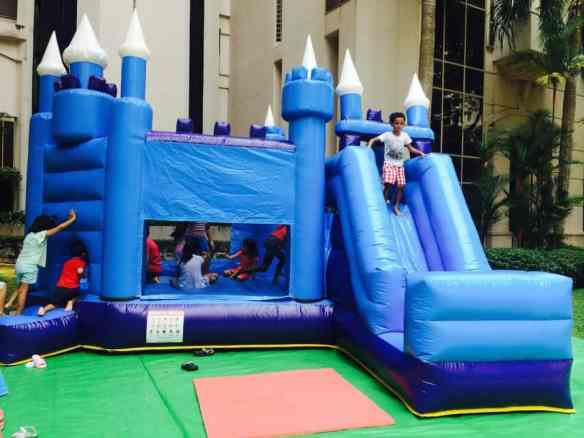 boucy castle and slide inflatable