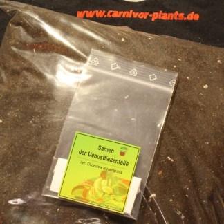 3 Liter Substrat und 30 Dionaea Samen