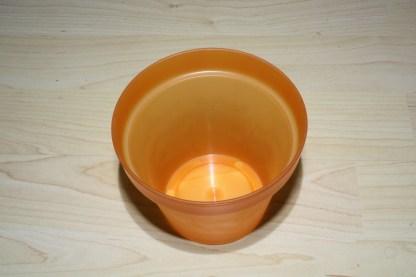 Plastikübertopf orange