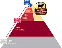 certified angus beef pyramid smallest