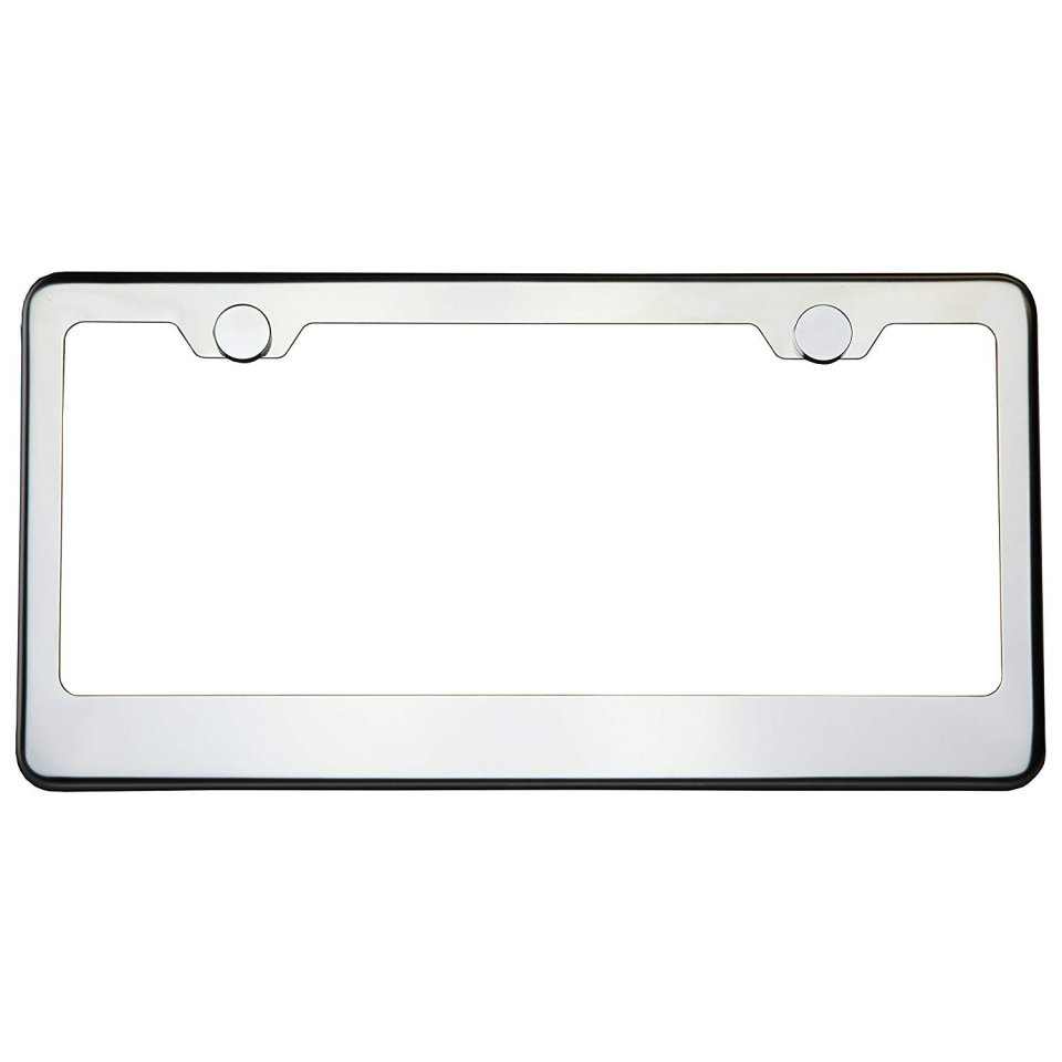 Circle-Cool-T304-Stainless-Steel-Polish-Mirror-License-Plate-Frame0