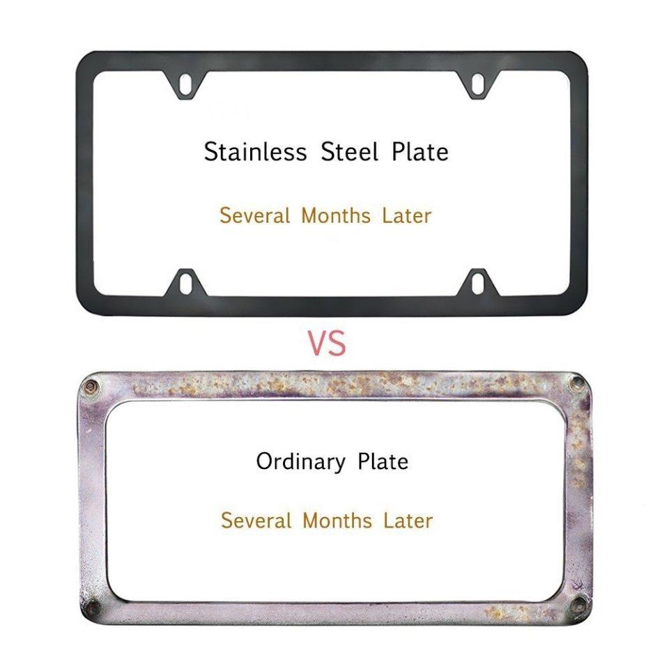 Indeedbuy-Stainless-Steel-Black-License-Plate-Frame2