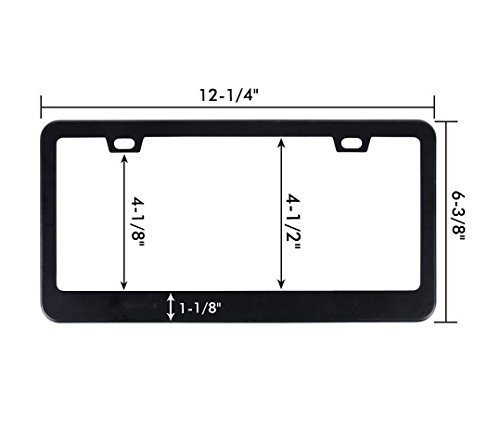 Ohuhu-Matte-Aluminum-License-Plate-Frame-with-Black-Screw-Caps1