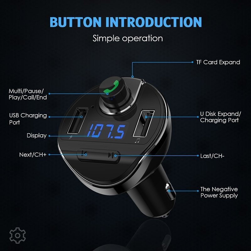Criacr Bluetooth FM Transmitter for Car1