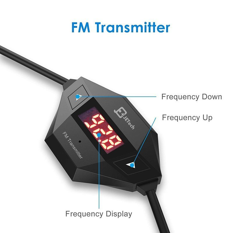 JETech Wireless FM Transmitter Radio Car Kit1