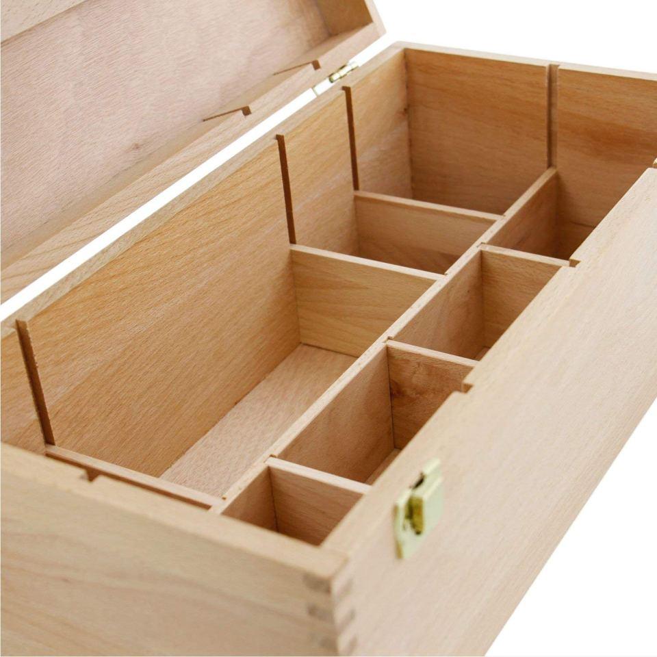 US Art Supply Artist Wood Pastel Pen Marker Storage Box2