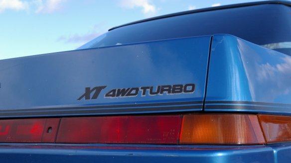 Subaru XT 4WD Turbo badge