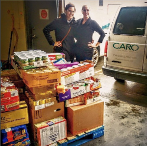 caro-jen-and-kathleen-richmond-food-bank-donation-day