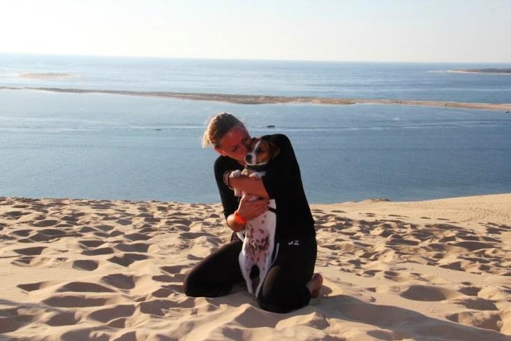 Dune Pilat avec son chien (28)