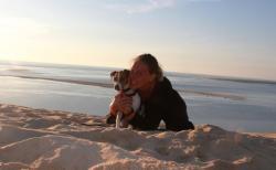 Dune Pilat avec son chien (36)