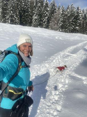 emmener chien à la neige