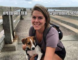 plage débarquement avec chien normandie