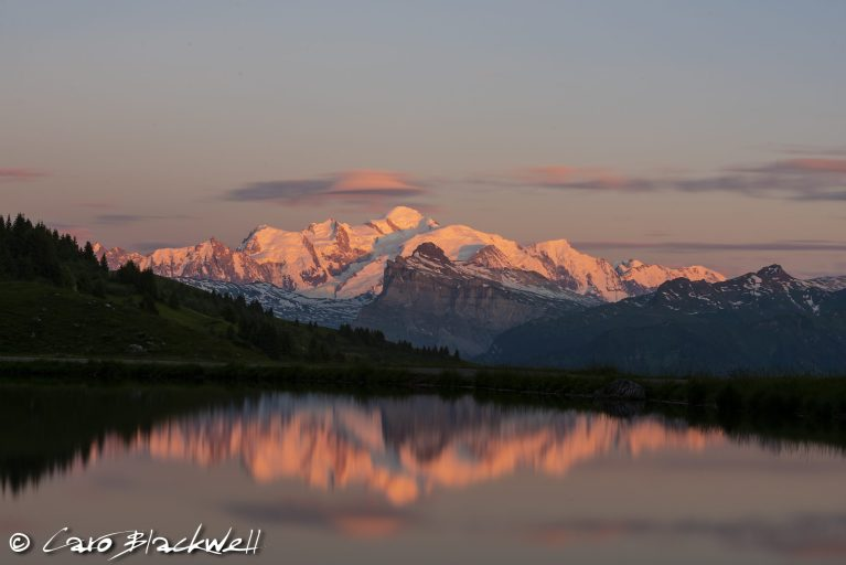 Mont Blanc Sunset - Caro Blackwell Photography