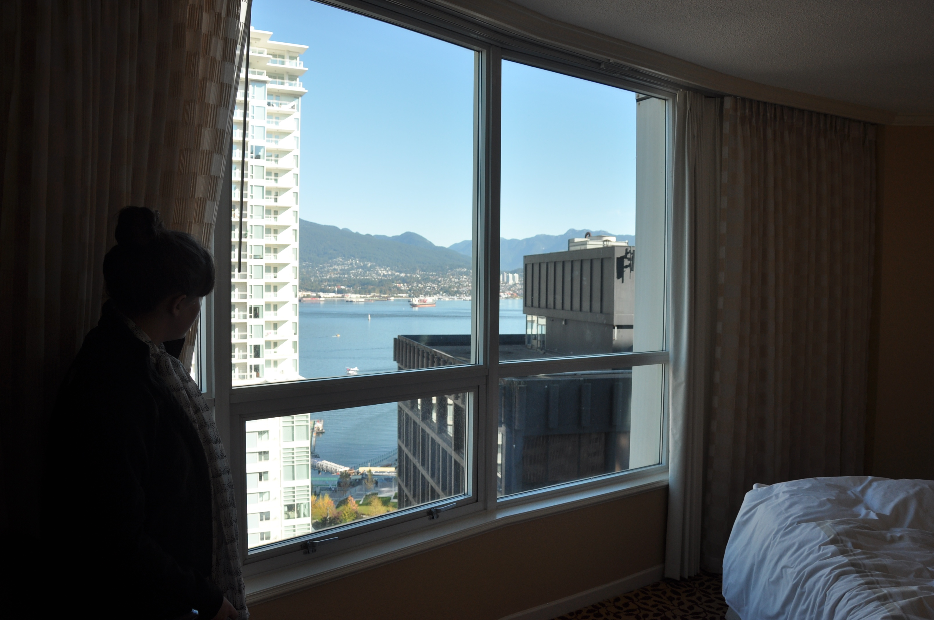80 bucks for a corner room with a view at the Marriot. Thank you Priceline.com!!!!