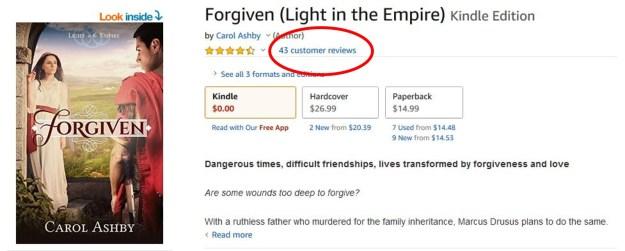 forgiven amazon page
