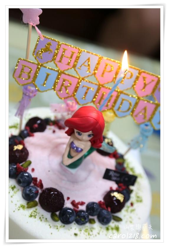 [台中生日蛋糕]兔子洞甜點工作室~小美人魚卡通造型蛋糕,自行挑選配件組合,創造驚喜的生日蛋糕!